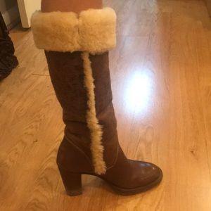 Michael Kors tall fur boots